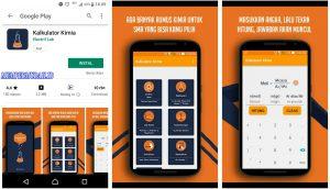 Aplikasi Kalkulator Menghitung Soal Kimia di Smartphone Android