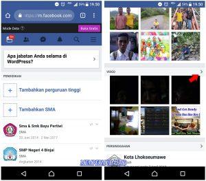 Cara Melihat Koleksi Video di Akun Facebook Kita via Android 4