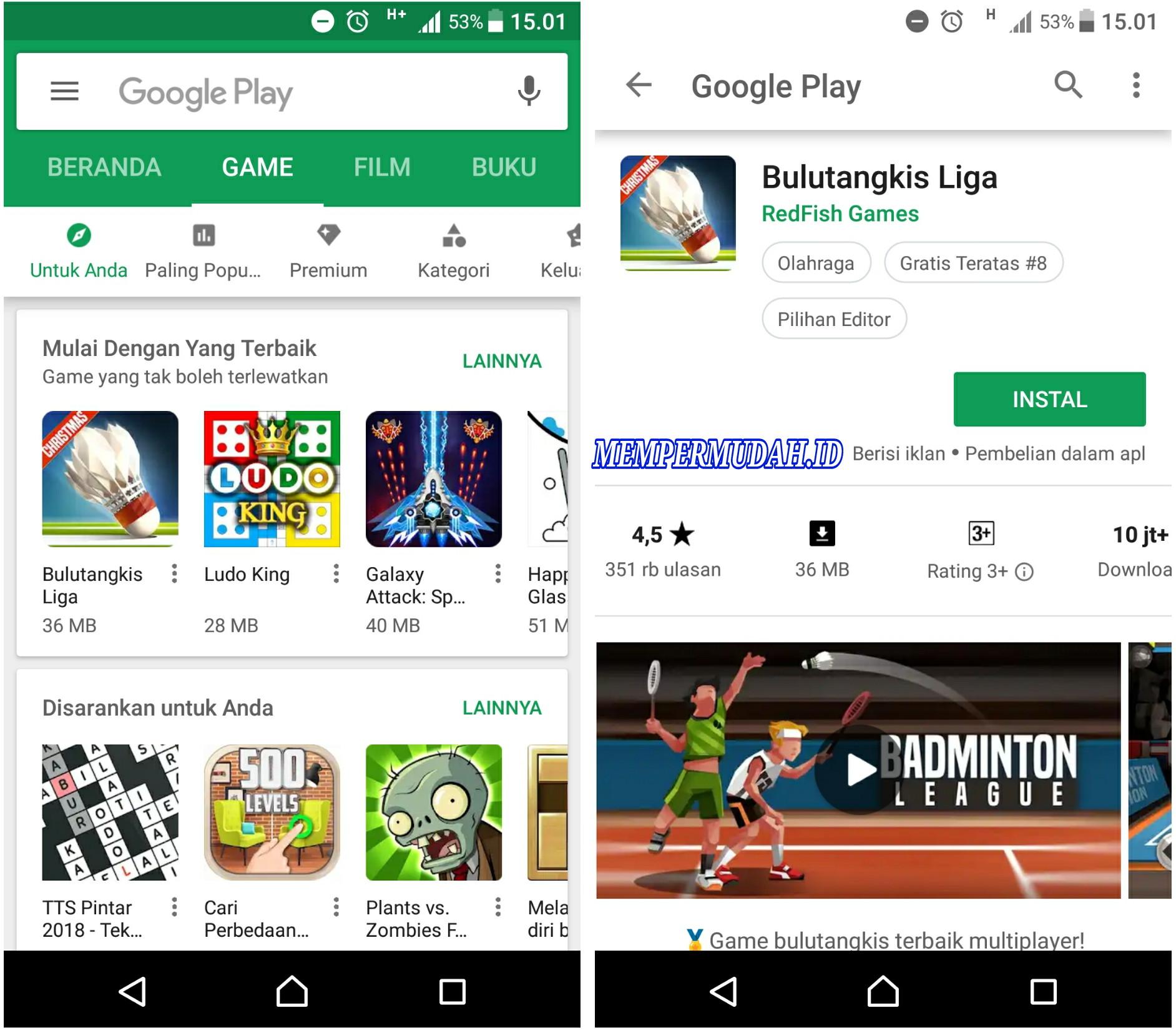 cara mengganti tema google play store
