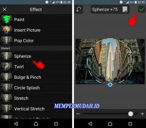 Cara Edit Foto Efek Cembung (Go Pro) di Smartphone Android 4