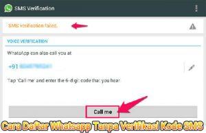 Trik Daftar Buat WhatsApp Tanpa Verifikasi Kode SMS di Android