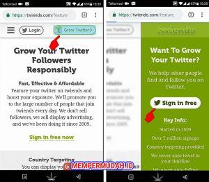 Trik Menambah Auto Followers Pengikut Twitter via HP Android 6
