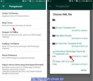 Cara Menggunakan Whatsapp Tema Latar Hitam Gelap di HP Android 4