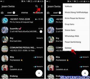Cara Menggunakan Whatsapp Tema Latar Hitam Gelap di HP Android 5
