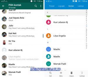 Cara Menghapus Kontak Khusus Untuk Whatsapp Saja