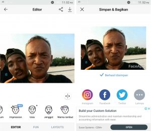 Cara Edit Foto Dengan Aplikasi Face App Tanpa Simbol (Watermark) 3