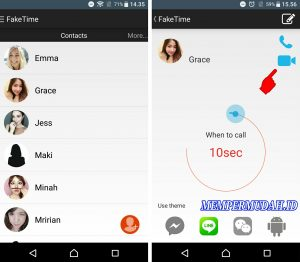 Cara Membuat Video Call Palsu di Line HP Android 5