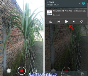 Cara Merekam Video Dengan Kamera Android Sambil Dengarkan Musik 4