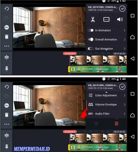 Cara Mengatasi Suara Menurun di Akhir Video Kine Master Android 2