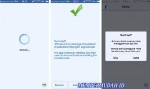 Cara Buat Tema Facebook Lite Tembus Pandang di Android 10