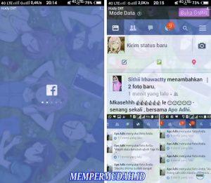 Cara Buat Tema Facebook Lite Tembus Pandang di Android