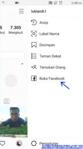 Cara Buka Facebook Melalui Aplikasi Instagram di Android 4