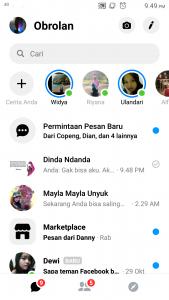 Cara Mengubah Tema Latar FB Messenger Android Menjadi Gelap 2