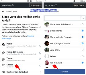 Cara Sembunyikan Story Facebook Kita Pada Teman Tertentu 4