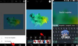 Cara Buat Gambar Logo Nama Keren Efek Asap di HP Android 5