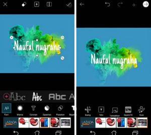 Cara Buat Gambar Logo Nama Keren Efek Asap di HP Android 6