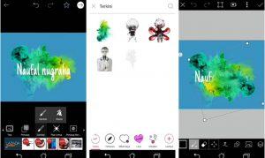 Cara Buat Gambar Logo Nama Keren Efek Asap di HP Android 7