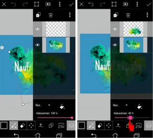Cara Buat Gambar Logo Nama Keren Efek Asap di HP Android 8
