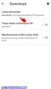 Cara Download File Dari Browser Chrome Langsung ke Kartu Memori 4