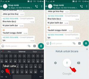 Cara Kirim Pesan Whatsapp Tanpa Mengetik di Keyboard Android 5