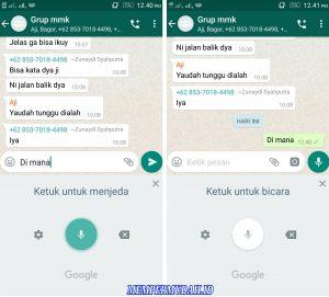 Cara Kirim Pesan Whatsapp Tanpa Mengetik di Keyboard Android 6