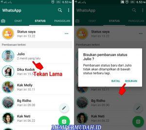 Cara Memblokir Semua Status Cerita Teman di Whatsapp 3