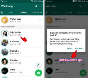 Cara Memblokir Semua Status Cerita Teman di Whatsapp 4