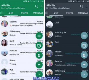Cara Mengganti Warna Hijau di Tampilan Whatsapp Android