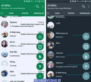 Cara Mengganti Warna Hijau di Tampilan Whatsapp Android 5