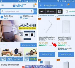 Cara Membeli Barang di Aplikasi Blibli Smartphone Android 2