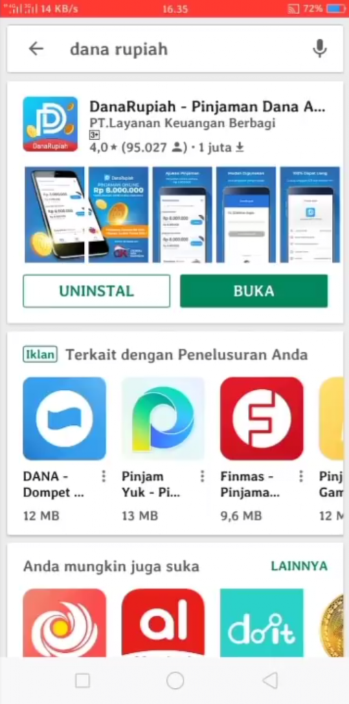 Cara Pinjam Uang Online di Aplikasi DanaRupiah HP Android ...