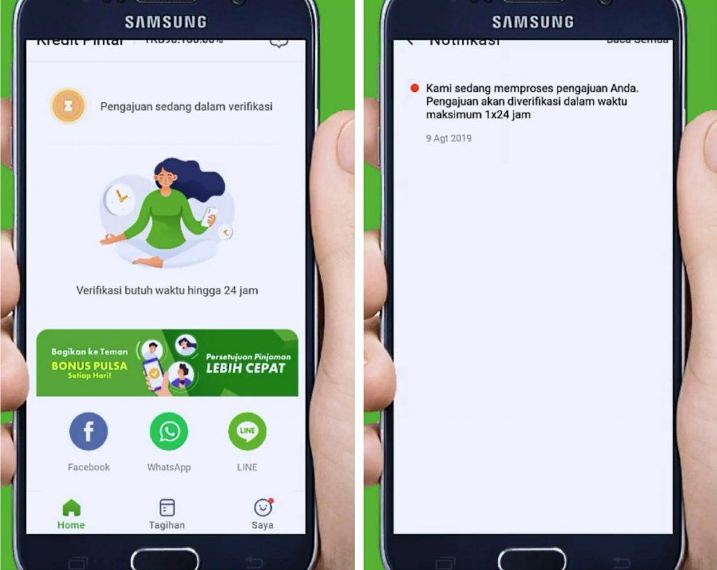Cara Pinjam Uang Online di Aplikasi Kredit Pintar HP ...