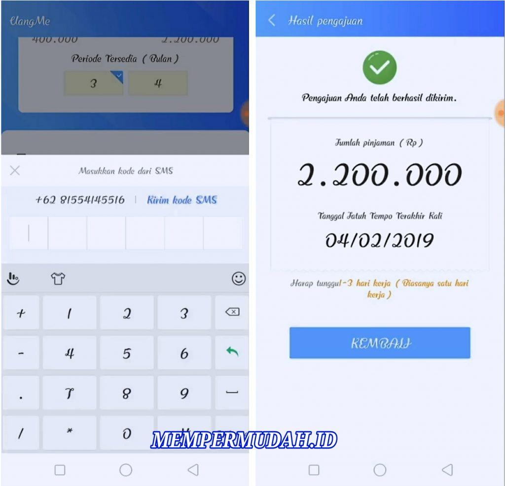 Cara Pinjam Uang Online di Aplikasi UangMe HP Android ...