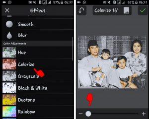 Cara Edit Foto Jaman Dulu Hitam Putih Menjadi Berwarna di Smartphone 8