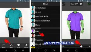 Cara Mengganti Warna Baju Pada Foto di Smartphone Android 3
