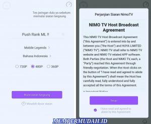 Cara Menggunakan Aplikasi Nimo TV di Smartphone Android 7