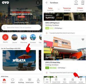Cara Pesan Hotel di Aplikasi OYO Smartphone Android 3