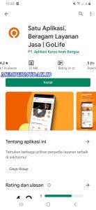 Cara Menggunakan Satu Layanan Aplikasi GoLife di HP Android 1