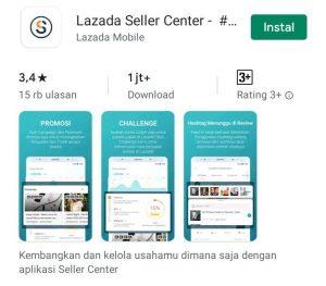 Cara Menjual Barang di Aplikasi Lazada Smartphone Android 1