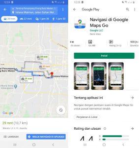 Cara Pakai Aplikasi Google Maps Lite di Smartphone Android 5