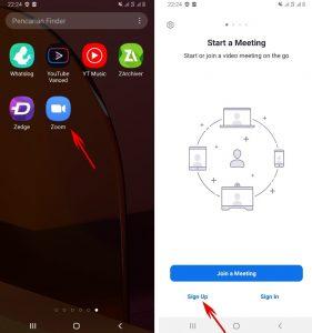 Cara Daftar Aplikasi Zoom Cloud Meeting di HP Android 2