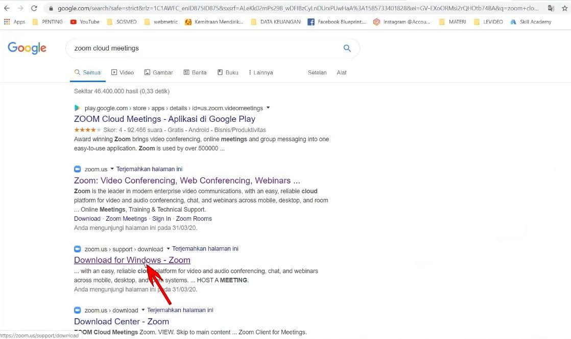 Cara Download Pakai Aplikasi Zoom Cloud Meeting Di Laptop Mempermudah Id Mempermudah Id
