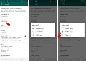 Cara Sembunyikan Foto Profil Whatsapp Dari Beberapa Kontak Nomor 3