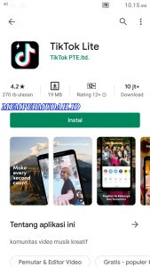 Cara Membuat Video di Aplikasi Tik Tok Versi Lite HP Android 1