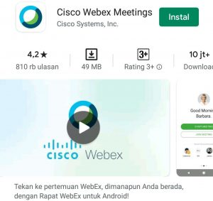 Cara Join Meeting Room di Aplikasi Cisco Webex di HP Android 1