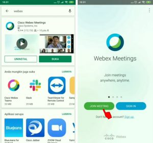 Cara Join Meeting Room di Aplikasi Cisco Webex di HP Android 2