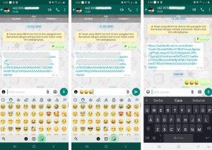 Cara Menggunakan Emoji Facebook di Aplikasi Whatsapp Android 7
