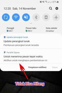 Trik Menghilangkan Notifikasi Android Yang Tidak Bisa diHapus