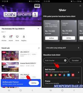 Cara Mendapatkan Akses Vidio Premier Platinum Gratis di Android 5