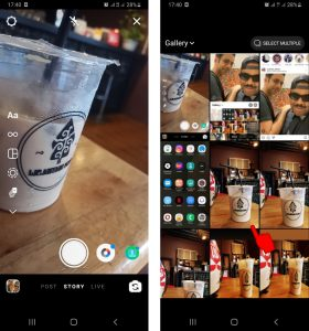 Cara Buat Lingkaran (Circle) Warna Hijau di Story IG via HP Android 3